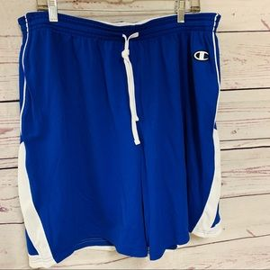 Champion Blue and White Reversible Bball Shorts